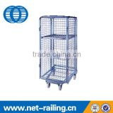 Galvanized steel mesh nestable roll containers