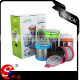 2016 kitchenware ss canister with PVC manufacturer supplier/coffee kitchen canister sets
