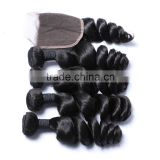 Most popular full cuticle cheap wholesale remy 100 european remy virgin human hair weft natural loose wave for black women                                                                                                         Supplier's Choice