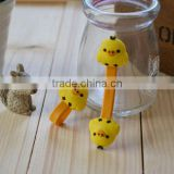 2012 Cute duck MP3 MP4 earphone headphone bobbin winder/cable holders/cord clip/wire twister                                                                         Quality Choice