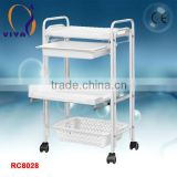 RC8028 3 layers cosmetic trolley case for nail beauty salon use