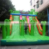 Factory direct jungle theme inflatable slide for kids and adults