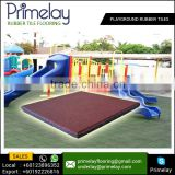 Highest Rated Playground Safety Surface Square Rubber Tile