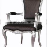 Best selling leather armchair wooden chairs with arms for living room furniture set                                                                         Quality Choice