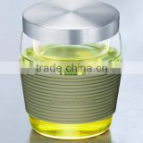 SAMADOYO New Product Heat Proof Clear Glass Tea Cups With Infuser And Lid Factory Supply