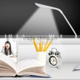 Rechargeable Flexible JK853C CE certificated LED desk lamp office table light led touch clip lamp