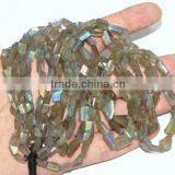 Natural Labradorite Faceted Tumble Shape Beads 8X13MM Long 16''Inch AAA+++Good Quality On Whole Sale Price