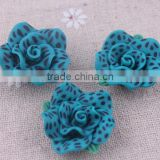 Halloween fashion handmade polymer clay beads!!chunky clay flower beads for fashion jewelry!!