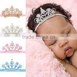 Hot-sales baby crown headband baby princess crown hair band children diamond hair accessory wh-1838