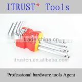 9Pcs Ball Head Hex Key Set Mat Finish WR5002
