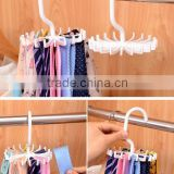 Creative Twirling Tie Rack, Rotating Plastic Scarf/ Bag Hook