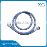European style washing machine inlet hose/PVC inlet hose/plastic Euro connector pvc washing machine inlet hose/dishwasher hose
