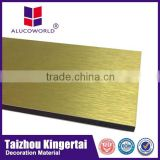 Alucoworld gurantee brush finished aluminium composite panel sheet with 4mm 3mm 5mm thick