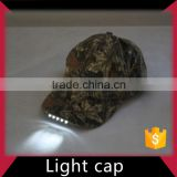 Custom Embroidered Baseball Cap with Built-in Led Light