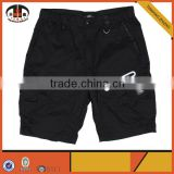 New Style Men Short Track Pants Black Cargo Shorts with Zipper Pockets