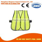 High Visibility Belt Reflective Safety Vest For Running Or Cycling String Vest With Multi Pocket Red Color