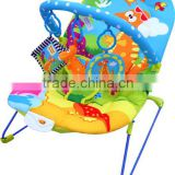 Dinosaur World Baby Bouncer, light weighted musical baby rocker cradles with lovely toys