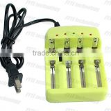 NANFU HG1412 YELLOW Multifunctional universal li-ion 1.2v battery charger and car charger for li-ion/LiFePO batteries
