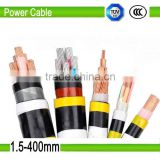 low voltage copper under armoured conductor 25mm PVC insulated PE sheath steel tape power cable