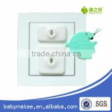 3 pins electronic socket guard for baby safety products electrical outlet caps by Babymatee