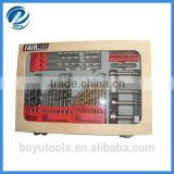 46pcs high quality wooden case combination drill bit set for metal,concrete,wood&plastic