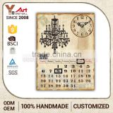 Personalized Design Custom Shape Printed Calendar 4X6 5X7 Decorative Antique Wall Plaques