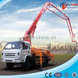 Fully automatic concrete boom pump truck with concrete mixer
