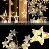 led twinkle net lights/cheap decorative/light curtain for wedding/curtain light with stars