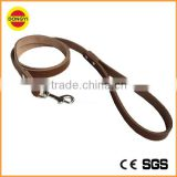 Brown real leather pet leash dog leash with large stock lot