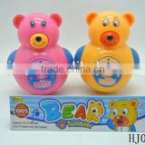 Baby's Toys Tumbler, B/O Cartoon Bear Tumbler Toys, Electric Animal Tumbler Toys With Light And Music