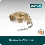 2.5 inch fire hydrant nakajima brass valve cap with chain