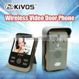 KiVOS new product KDB302A wireless waterproof door intercom tvideo camera doorbell wireless wo way wireless door bell