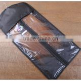high quality satin hair extensions bags/ hair brazilian hair with hangers