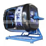 360 degree flight simulator with flying game and driving game machine