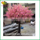Wholesale artificial cherry blossom tree fiberglass trunk artificial cherry tree silk flower artificial cherry blossom tree