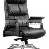Luxury black executive swivel leather office chair boss chair
