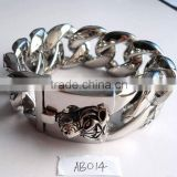 2012 not sale stainless steel big fashion lion bracelets for men AB014                                                                         Quality Choice