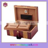 Lacquered cigar boxes cases wood design with inner cigar tray