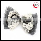 Black and White Tulle Lace Hair Bow for Girl hair alligator clips