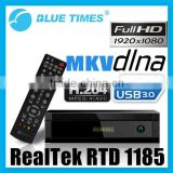 Bluetimes 3550 HDMI 1080p Blu-ray H.264 MKV HD TV Box Network Wifi Media Player with Realtek 1185