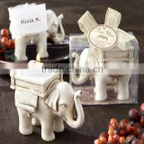 Lucky Elephant Candle Holder/Antique Ivory-Finish Elephant TeaLight Holder