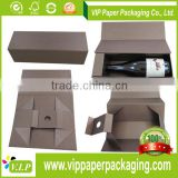 Luxury Flat packed Magnetic Foldable Wine Box, Box packaging for Christmas New year gift