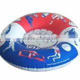 High quality inflatabale towable snow tube,floating water tube,blue and red design snow tube