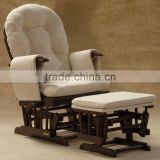 2013 baby TF05T wooden glider chair with ottoman cream fabric