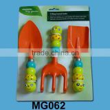 bee shape plastic handle kids garden tool set