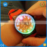 LED002/ Fashion Big Dial LED Backlight Rubber Sport Watch Wrist Watch for Men Women Unisex Black White Red