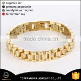 Guangzhou Supplier Gold Plating Stainless Steel Magnetic Energy Bracelet Brass Adjustable Mens Cuff Bracelet Blank