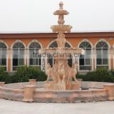 Garden Decoration of marble fountain with poseidon statues