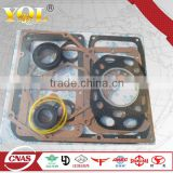 Changchai Diesel engine spare parts s195 full gaskets with cylinder head gasket,oil seal and water ring yellow color
