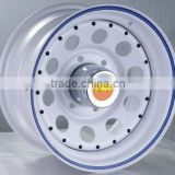 soft white modular wheel for steel rim with bright color